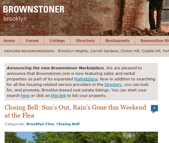 Brownstoner.com Your  Source For Information About Brooklyns Beautiful Brownstone Buildings.